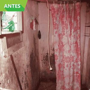 Antes e Depois de reforma em banheiro em moradia no Jardim Ibirapuera, na Zona Sul de São Paulo; obra foi feita pelo Projeto Vivenda - Divulgação
