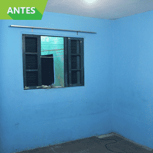Antes e Depois de reforma em quarto em moradia no Jardim Ibirapuera, na Zona Sul de São Paulo; obra foi feita pelo Projeto Vivenda - Divulgação