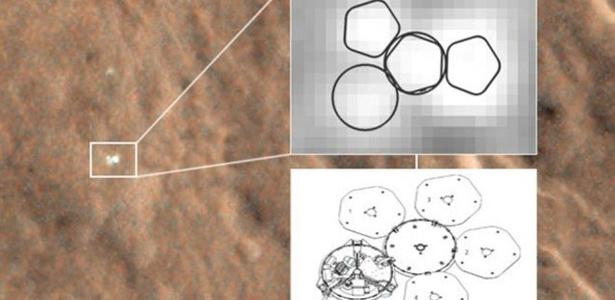 Imagem em HD tiradas na óbita de Marte apontam a localização da sona Beagle 2