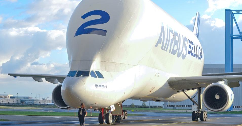 Airbus Beluga, A300-600ST, que transporta partes dos aviões da própria Airbus