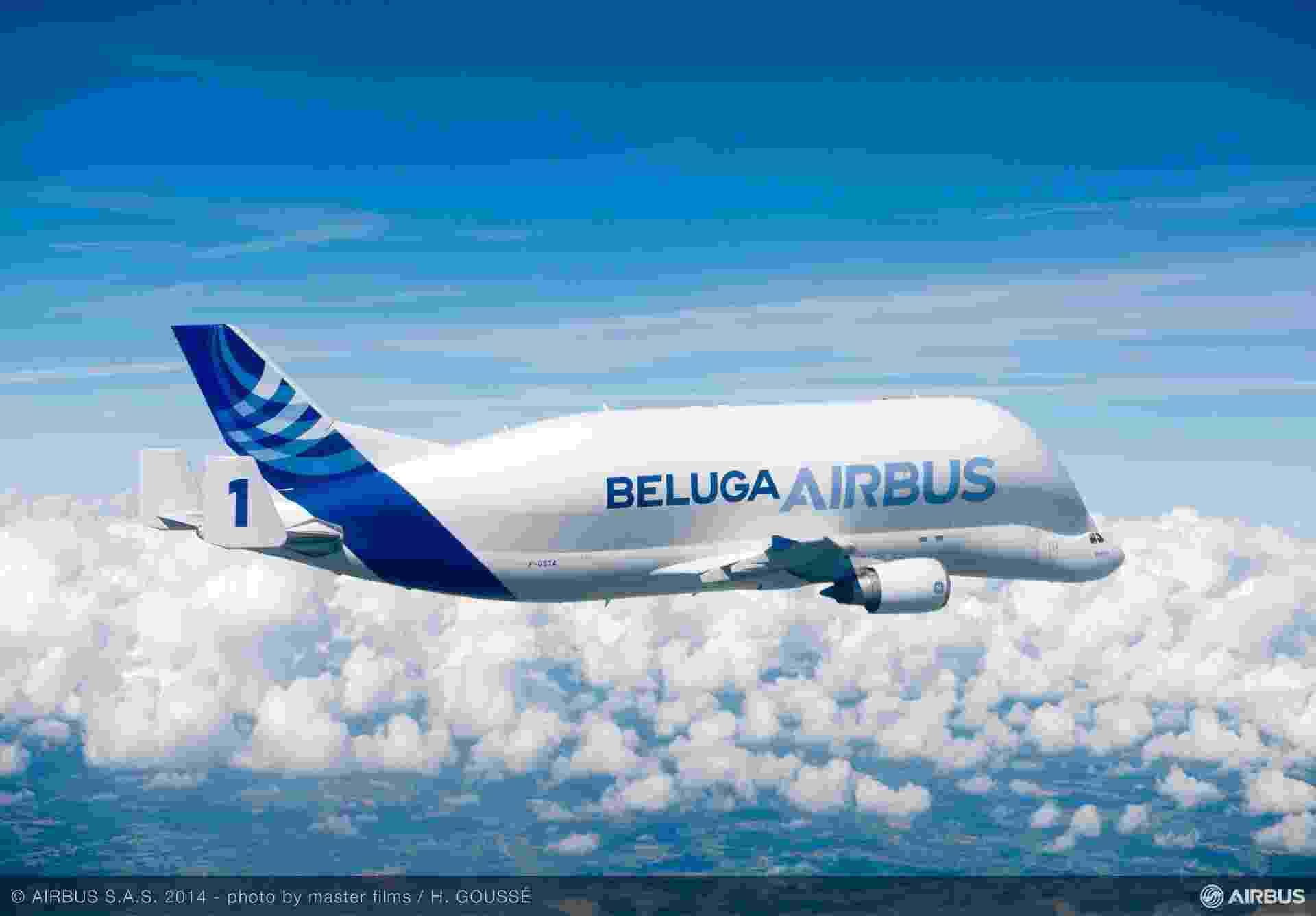 Airbus Beluga, A300-600ST, que transporta partes dos aviões da própria Airbus - Divulgação/Airbus
