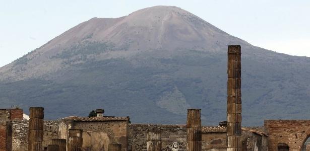 Sítio arqueológico de Pompeia, perto de Nápoles