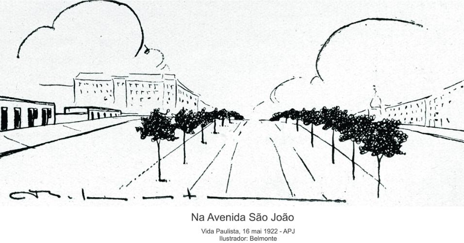 Charges ilustram transformações e problemas de São Paulo no século 20