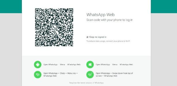 Para usar a versão web, basta escanear o código