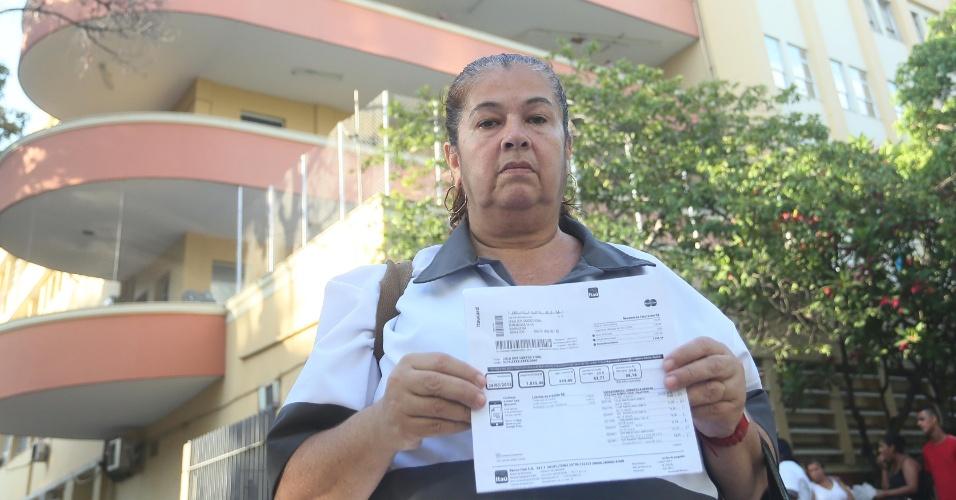 29.jan.2015 - Leila dos Santos Vidal, protesto, Uerj