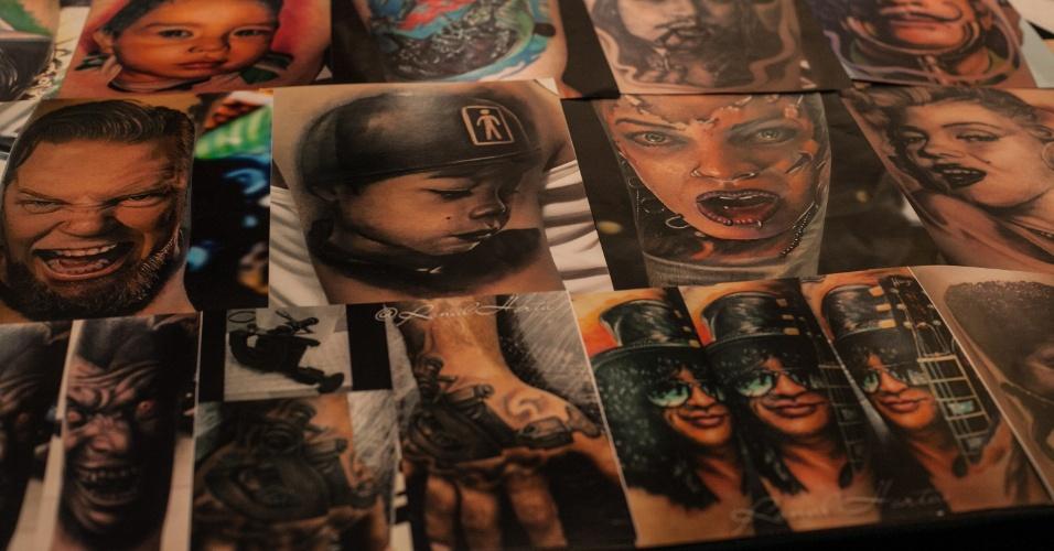29.jan.2015 - A Exposição Internacional de Tatuagem da Venezuela, em Caracas, atrai anualmente artistas de vários países e adeptos da arte corporal. A convenção, que dura quatro dias, inclui tatuadores e adeptos de implantes subcutâneos e body piercing