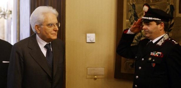 31.jan.2015 - O presidente da Itália, Sergio Mattarella