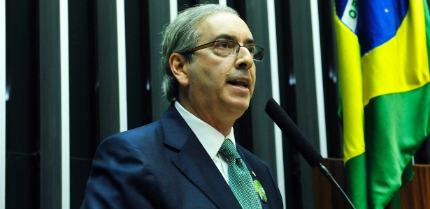 Eduardo Cunha (PMDB-RJ) discursa durante sessão de votação para a eleição da nova Mesa Diretora da Câmara - Laycer Tomaz/Câmara dos Deputados