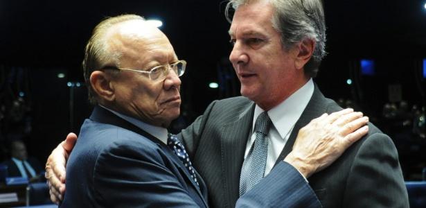 João Alberto Souza ao lado de Collor no Senado