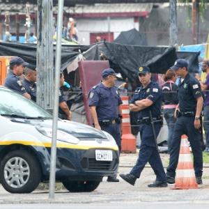 4.fev.2015 - Agentes da GCM (Guarda Civil Metropolitana)