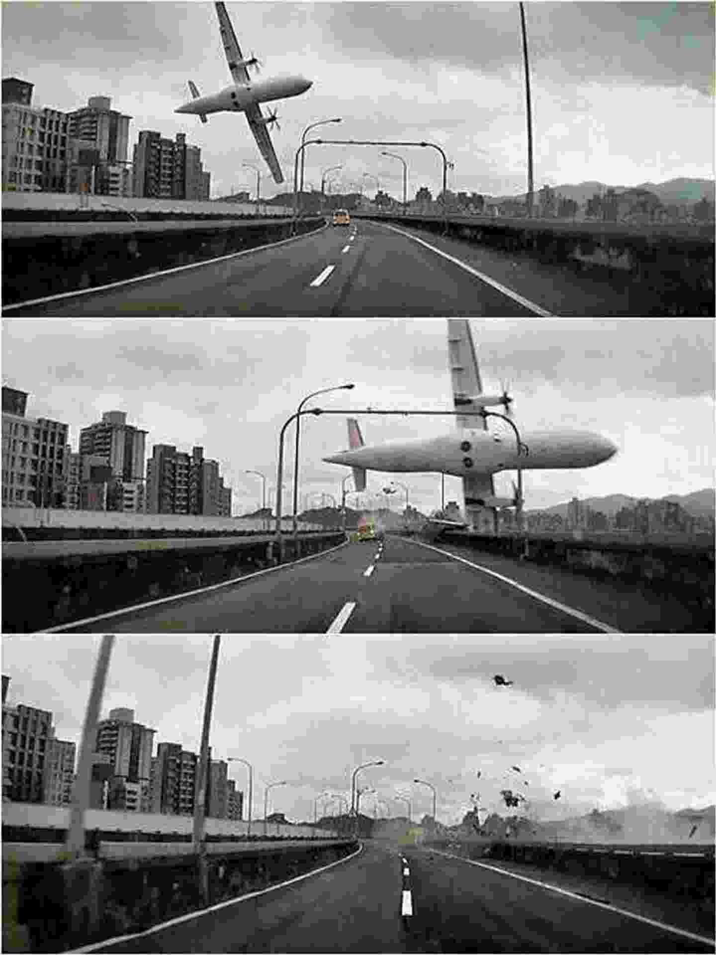 4.fev.2015 - Queda de avião em Taiwan - sequência 2 - Xinhua