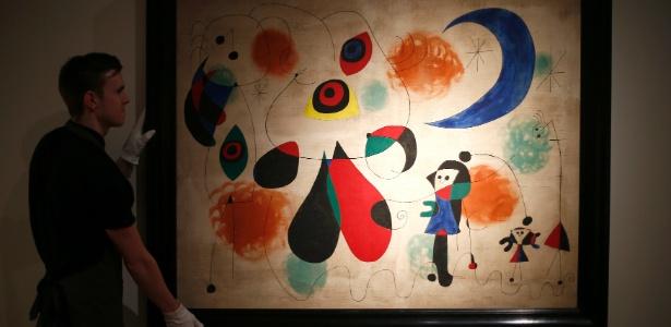 A obra de Joan Miró foi vendida a um valor muito acima do esperado - Andrew Winning/Reuters
