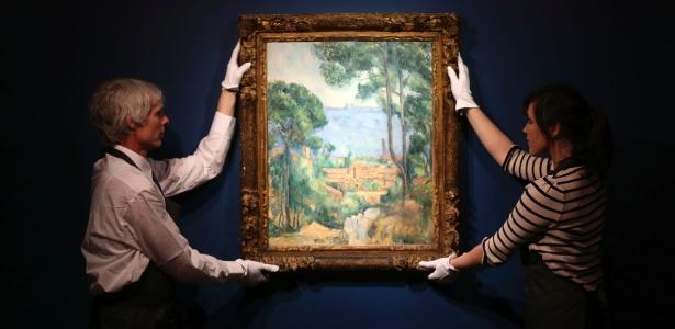 """A obra """"Vue sur l""""Estaque et le château d""""If"""", de Paul Cézanne - Paul Hackett/Reuters"""