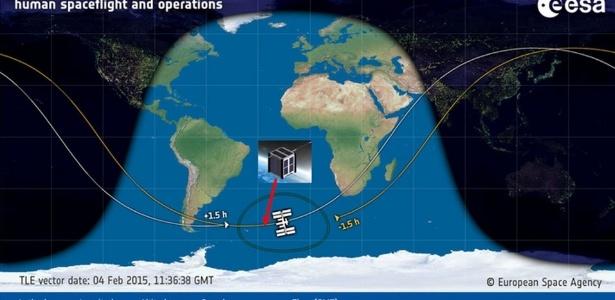 O satélite AESP-14 foi lançado quando a ISS se aproximava do continente africano