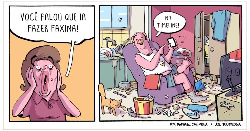 """7.fev.2015 - """"Faxina"""""""