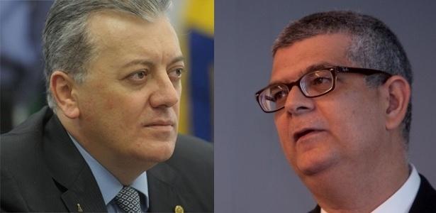 Aldemir Bendine (à esq.), novo presidente; e Ivan Monteiro (à dir.), diretor de Finanças - Luis Ushirobira/Valor e Leticia Moreira/ Folhapress