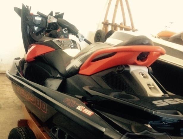 Moto aquática de Eike Batista apreendida pela Polícia Federal em Angra dos Reis (RJ)