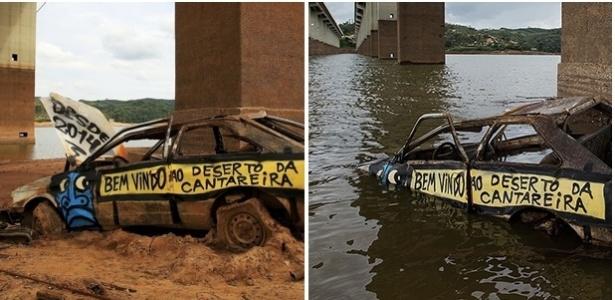 Carro que virou símbolo da falta de água estava na represa Atibainha - Estadão Conteúdo