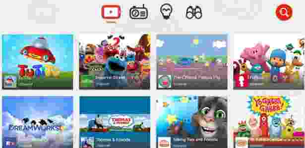 YouTube Kids, versão específica do aplicativo para crianças - Divulgação