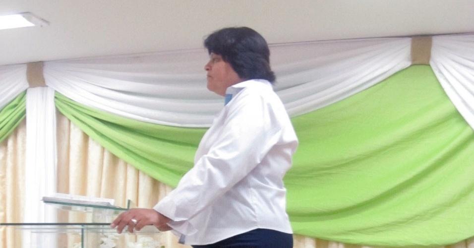 21.fev.2015 - pastora Márcia Dias, da igreja Athos