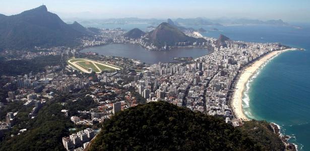 Vista do morro Dois Irmãos, no Vidigal, para Lagoa, Cristo, Ipanema e Gávea - Custodio Coimbra/Ag. O Globo
