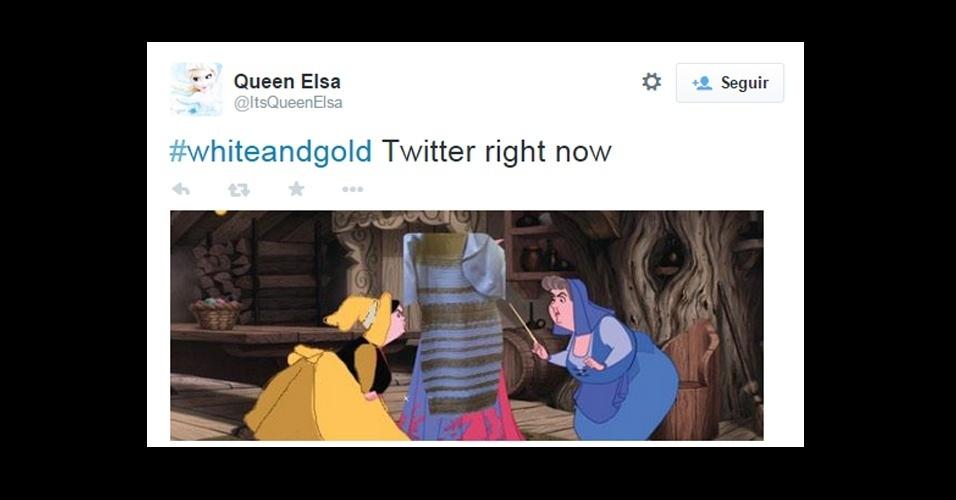 27.fev.2015 - A cor de um vestido gerou um debate acalorado nas redes sociais. Enquanto uns tentavam desvendar os mistérios e decidir entre o branco/dourado e azul/preto, outros preferiram gastar suas energias para criar memes