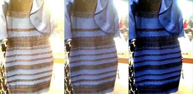 27.fev.2015 - A imagem original do vestido: que cores você vê?