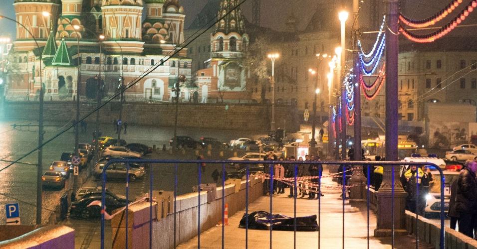 27.fev.2015 - O político da oposição russa Boris Nemtsov foi morto a tiros, no centro de Moscou, na madrugada deste sábado (27) - horário local. Ele levou quatro tiros não muito longe do Kremlin, sede do governo russo