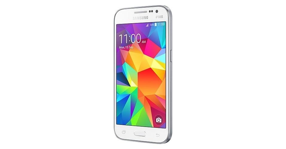 10.mar.2015 - A Samsung apresentou nesta terça-feira (10) o smartphone Galaxy Win 2 ao mercado brasileiro. O aparelho, que é uma reedição de um modelo de 2013, ganhou um acabamento em metal. Ele tem processador quad-core (de quatro núcleos) de 1,2 GHz, tela de 4,5 polegadas, dual-SIM (com suporte a 4G), 8 GB de armazenamento (expansível com cartão de memória até 64 GB) e sistema Android 4.4. O aparelho vai ser vendido em duas versões, sendo uma com TV digital HD (R$ 779) e outra sem TV (R$ 729)