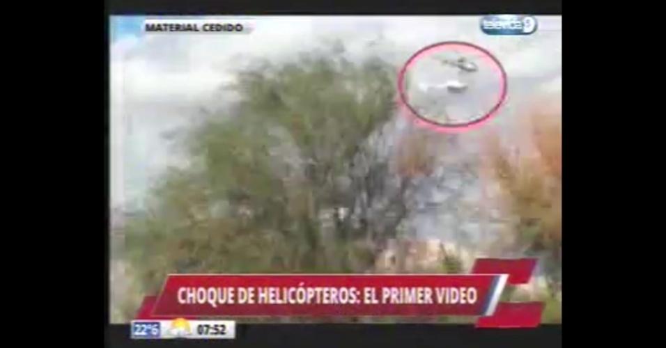 V deo mostra momento da colis o de helic pteros na for Noticias de ultimo momento de famosos
