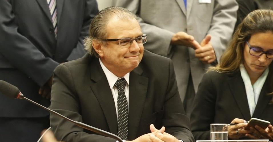 10.mar.2015 - O ex-gerente da Petrobras Pedro Barusco depõe à CPI (Comissão Parlamentar de Inquérito) da Câmara dos Deputados  que investiga irregularidades na estatal