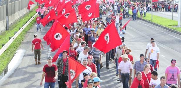 Em março, manifestantes pediram a liberação de verbas do Minha Casa, Minha Vida rural