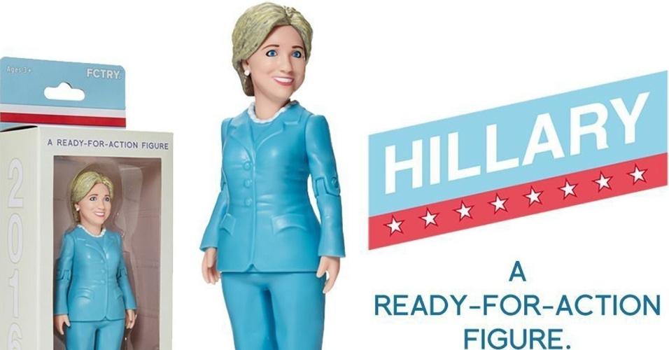 12.mar.2015 - A empresa norte-americana de brinquedos FCTRY criou uma boneca 3D da ex-secretária de Estado dos EUA Hillary Clinton. A cópia do produto será entregue aos possíveis compradores por e-mail, que pode ser reproduzida em uma impressora 3D
