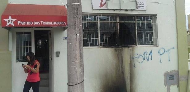 SP: Sede do PT é incendiada em Jundiaí - PT-Jundiaí/Divulgação