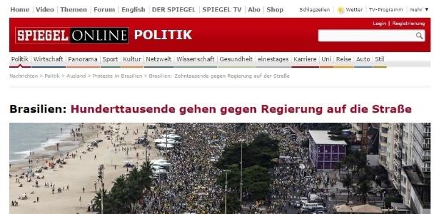 Veja como os protestos deste domingo foram mostrados em jornais internacionais - Reprodução/Der Spiegel
