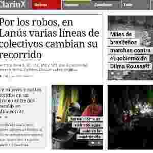 15.mar.2015 - Diversos jornais internacionais noticiaram os protestos contra o governo federal realizados neste domingo (15) no país. No geral, eles destacaram o grande número de pessoas que foi às ruas contra a presidente Dilma Rousseff - Reprodução/Clarin