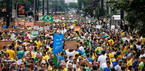 PM diz que avenida Paulista conta com 580 mil pessoas - Junior Lago/UOL