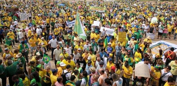 Balanço: Protestos contra governo reúnem mais de 390 mil pessoas em 16 Estados e no DF - Sergio Lima/Folhapress