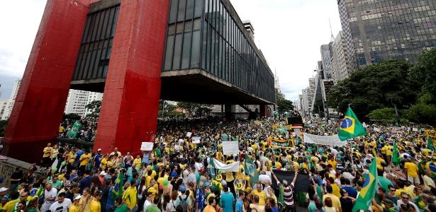 Manifestantes se reúnem em São Paulo para pedir o impeachment da presidente Dilma - Junior Lago/UOL