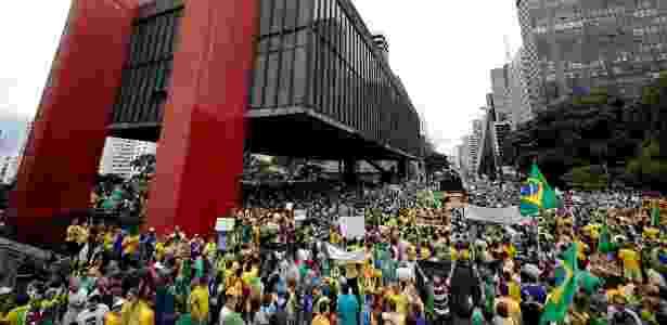 Manifestantes lotam avenida Paulista, em São Paulo, no último 15 de março - Junior Lago/UOL