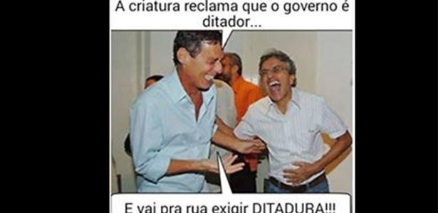 Nas redes sociais, Chico Buarque e Rubinho também são alvo dos memes sobre os protestos - Reprodução