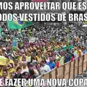 15.mar.2015 - Tem gente que viu o protesto e se lembrou da última edição da Copa do Mundo - Reprodução