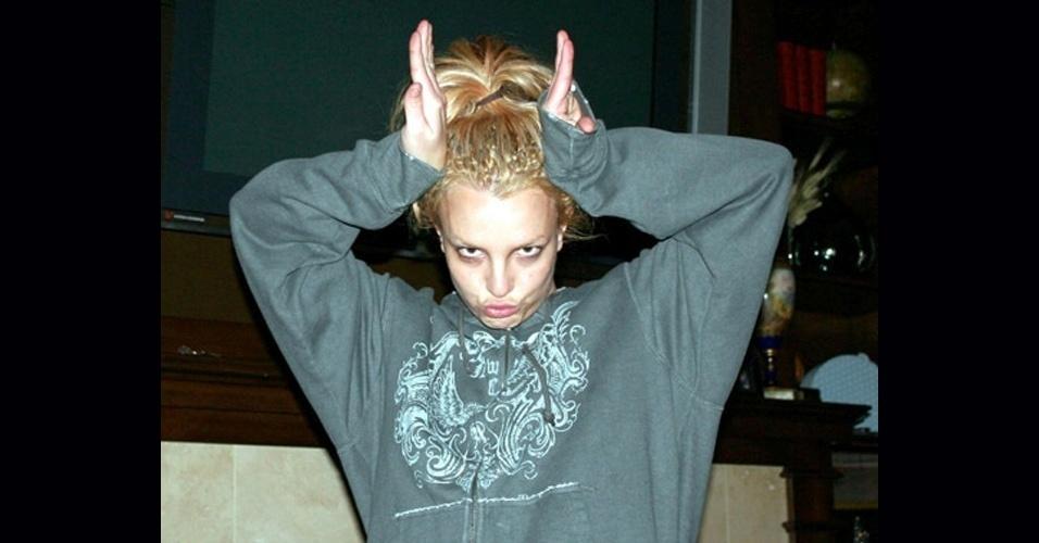Britney Spears durante pausa no ensaio do show