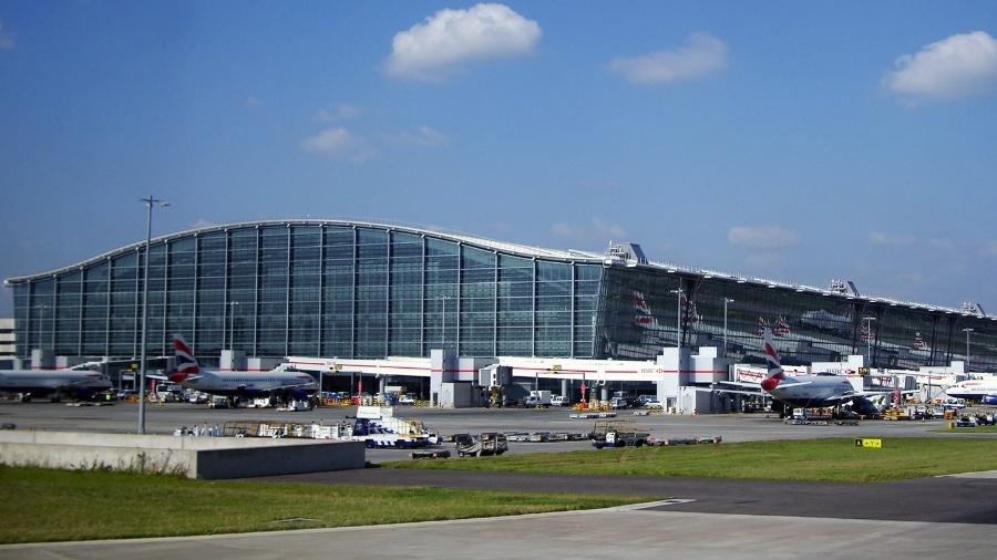 O Aeroporto Internacional de Londres-Heathrow, na Inglaterra - Warren Rohner/Wikimedia Commons/Wikipedia