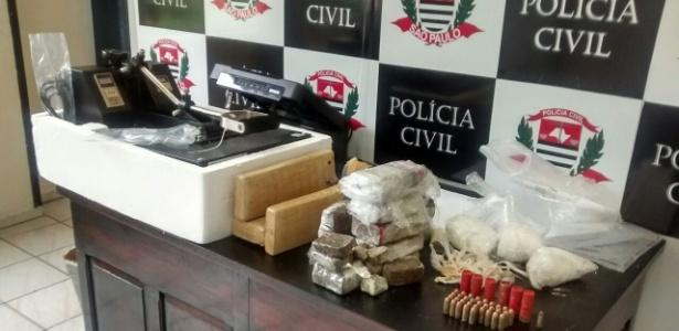 Drogas apreendidas pela Polícia Civil de São Paulo