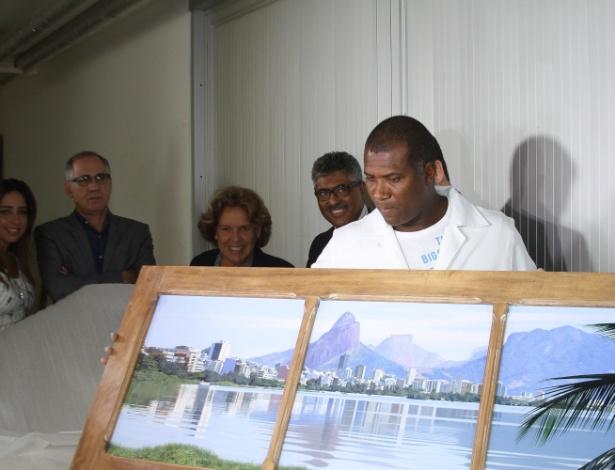Obra de arte apreendida na casa de Renato Duque, ex-diretor da Petrobras - Vagner Rosario/Futura Press/Estadão Conteúdo