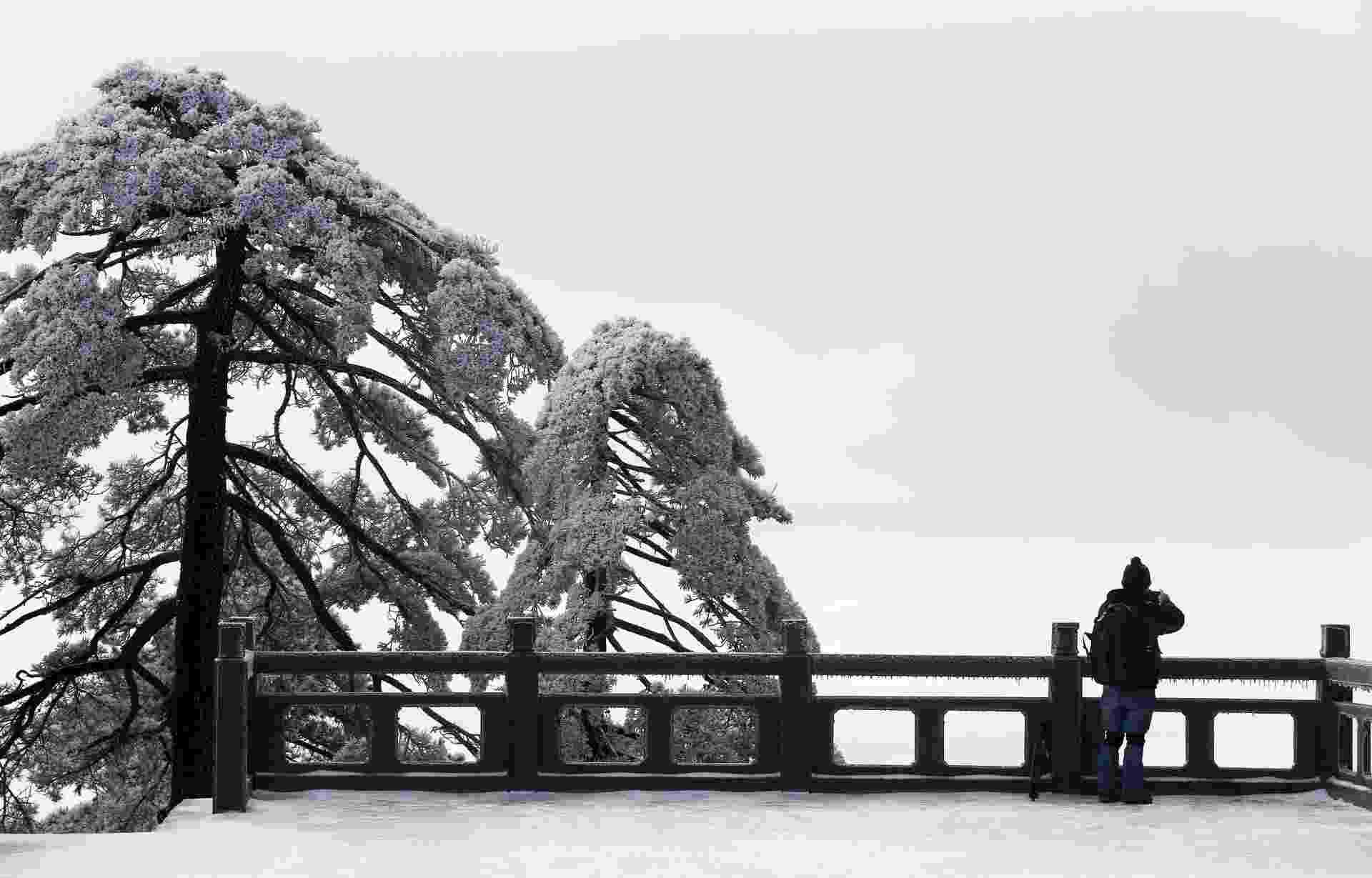 8.abr.2015 - Vista do Monte Huangshan, na cidade de Huangshan, situada na província de Anhui, na China - undefined