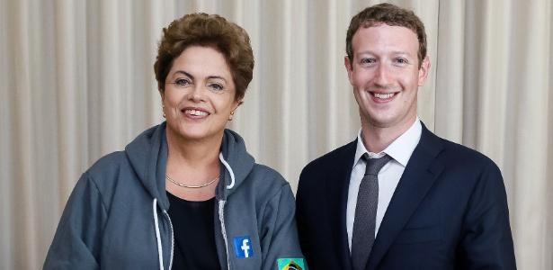 Dilma se encontrou com o fundador do Facebook, Mark Zuckerberg, no Panamá - Robert Stuckert Filho/Presidência do Brasil/AFP