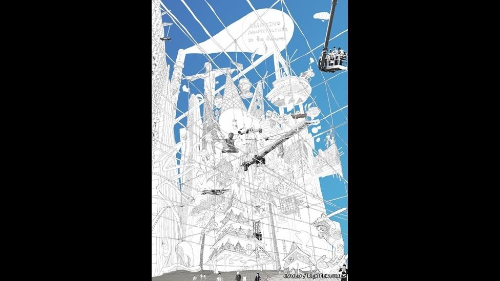 10.abr.2015 - O terceiro lugar do Prêmio eVolo Skyscraper 2015 foi para o projeto do russo Egor Orlov, que reimaginou a cidade do futuro como uma combinação dos mundos físico e digital. (Cybertopia, de Egor Orlov - Rússia)