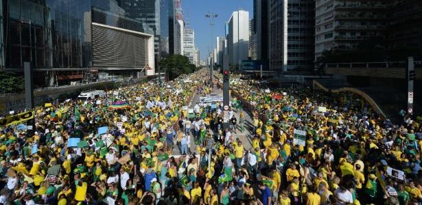 São Paulo: PM só irá divulgar número de manifestantes ao fim do protesto - Nelson Almeida/AFP